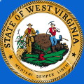 Seal of the State of West Virginia, U.S.A. Montani Semper Liberi (Mountaineers Always Free).